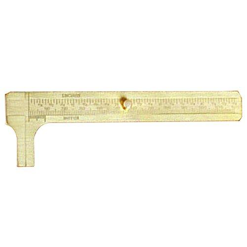 GEZICHTA Calibre deslizante de latón macizo, calibre vernier, calibre de latón para calibre deslizante, herramienta para joyeros, regla de medición, doble escala, 120 mm
