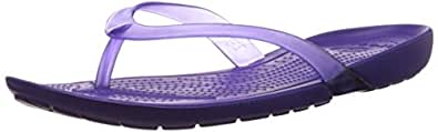 Crocs Women's Really Sexi Flip-Flop Ultraviolet and Ultraviolet Rubber Flip-Flops and House Slippers - 4 UK