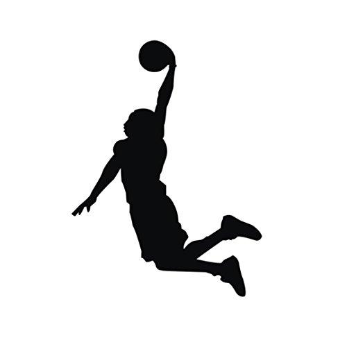 BakeLIN Wandaufkleber Wandtattoo, Basketball Wandsticker Wohnzimmer Schlafzimmer Kinderzimmer Haus Dekoration (58 x 35cm) (58 x 35cm, Schwarz)