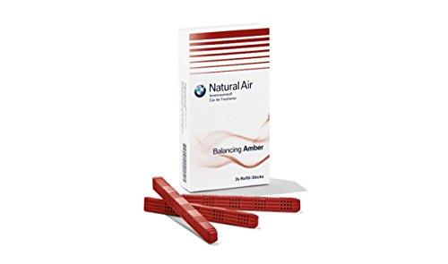BMW Natural Air Nachfüllpackung Innenraumduft Green Tea Tonic Raindrops Amper Harmonizing Flowers Woods (Amber) -