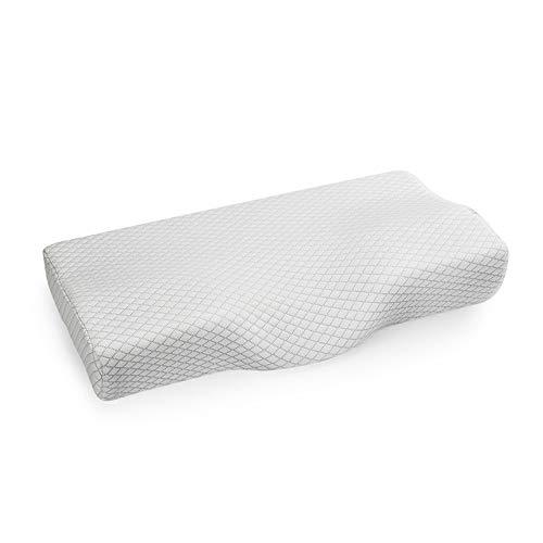 Guoyajf Memory Foam-Kissen,Zervixkissen Gegen Nackenschmerzen, Kopfkissen,Seitenschläferkissen,Orthopädische Konturkissen Mit Waschbarem, Atmungsaktivem Bezug,White