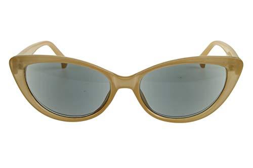 Lesesonnenbrillen mit Dioptrien für Damen Cateye Katzenaugendesign mit Etui beige transparent glänzend Kunststoff 1.0 1.5 2.0 2.5 3.0 3.5, Dioptrien:Dioptrien 2.5