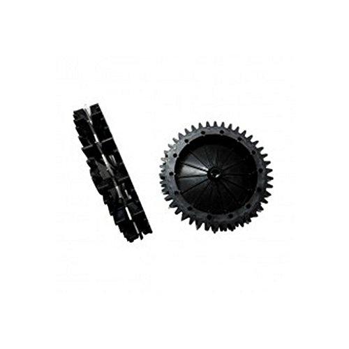 Zucchetti : Paire de roues avec griffes Robot Ambrogio L200 - l300