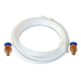 Cikuso Tube De Bowden PTFE en TéFlon De 2 MèTres Filament De 1,75 Mm Et Raccords InstantanéS Pc4-M6 pour Imprimante 3D