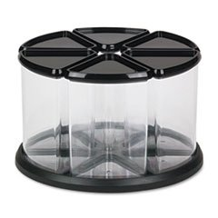 6-canister-carousel-organizer-plastic-11-1-8-x-11-1-8-black-clear