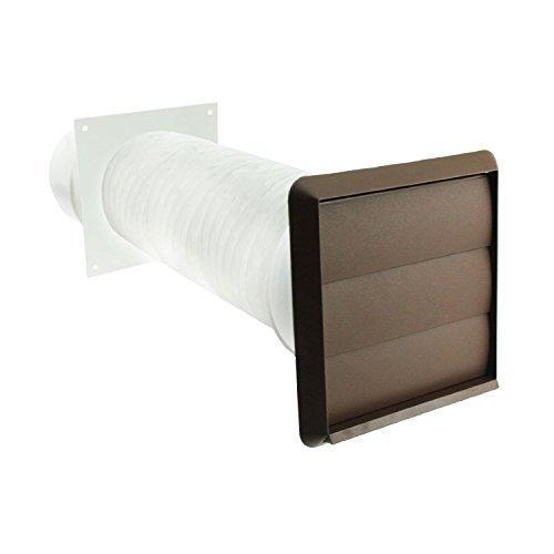 Spares2go Außenwand Belüftungs Kit für Autoradio CDA Kochnieschen (braun, 10,16 cm/102 mm) (Herd Belüftung)