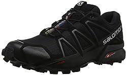 Salomon Herren Trail Running Schuhe, SPEEDCROSS 4, Farbe: schwarz (Black/Black/Black Metallic) Größe: EU 46 2/3