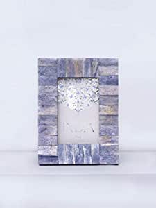 Casa Decor Coral Blue Stretcher Bond Pattern Single Handmade Photo Picture Frame Decorative Wall Hanging Photo Frame