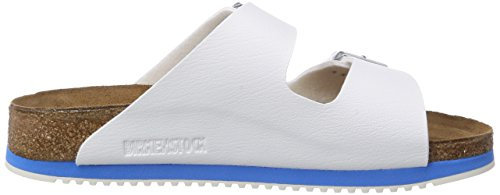 Birkenstock - Arizona Birko-flor, Ciabatte Unisex – Adulto Bianco (Blanc (white Ls White/blue))