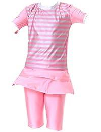 6deac46a318057 iDrawl Kinder Badeanzug Muslim Islamischen Full Cover Bademode Top + Hosen  Wassersport UV Schutz Anzug
