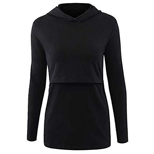 Delfine T-shirt Sweatshirt (Schwangerschaft Warm Tragen Quaan, Pflege Kapuzenpullover Lange Ärmel Beiläufig Oben Stillen Kleider Bluse Hemd Beiläufig Klassisch Einfach Retro Sport Sweatshirt Weich Gemütlich Baumwolle T-Shirt)