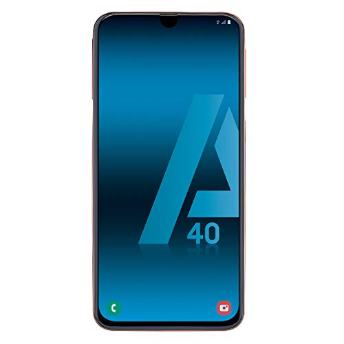 Samsung Galaxy A40 - Smartphone de 5.9' FHD+ sAmoled Infinity U Display (4GB RAM, 64GB ROM, 16MP, Exynos 7904, Carga rápida), Coral [versión española]