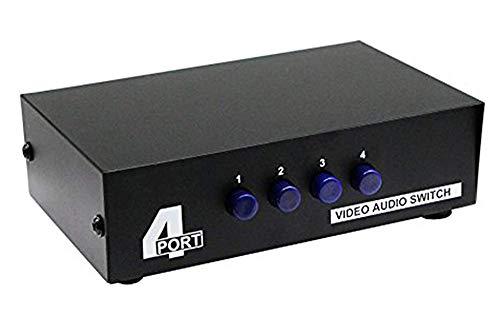 CERRXIANRCA Switcher, 4x1 Composite Video L / R Audio-Auswahlbox für DVD STB Spielekonsole
