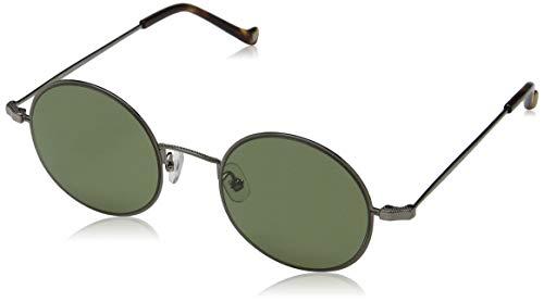 Hackett London Herren Bespoke Sonnenbrille, Silber (Dark Gun/Green), 48.0
