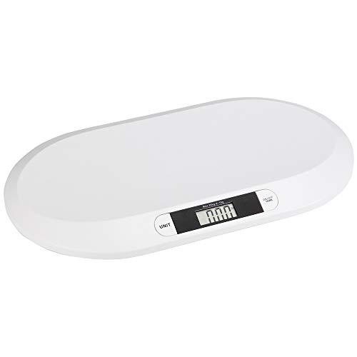 Vetrineinrete® Bilancia digitale piatta per neonati peso max 20 kg pesabambini con display LCD pesa persona con spegnimento automatico 66014 E54