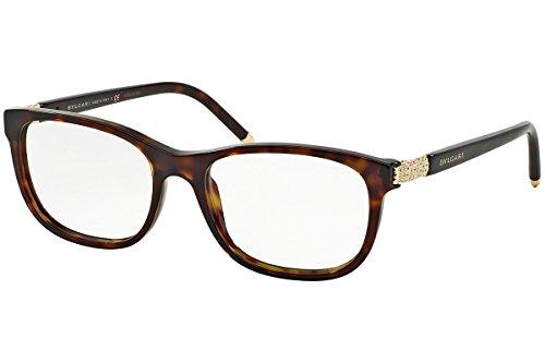 Bulgari Für Frau 4087b Dark Tortoise Kunststoffgestell Brillen, 52mm