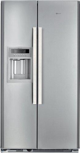 Bauknecht KSN 520 A+ IO Side-by-Side / A+ / Kühlen: 335 L / Gefrieren: 180 L / Edelstahloptik / NoFrost / Crushed-Ice-Spender mit Eisvorratsfach