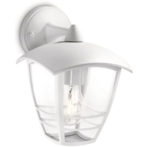 Philips myGarden Creek - Aplique de exterior, con brazo, luz blanca cálida, 60 W, 220 V, casquillo E27, bombilla no incluida, color