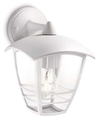 Philips - Luminaire Extérieur - Lanterne Murale descendante Creek Blanche 1x60W 230V