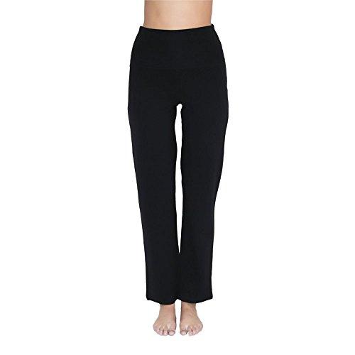 Leela Cotton Damen Yoga-Hose Bio-Baumwolle/Elasthan, Schwarz, Gr. S Bio-baumwolle-yoga-hosen