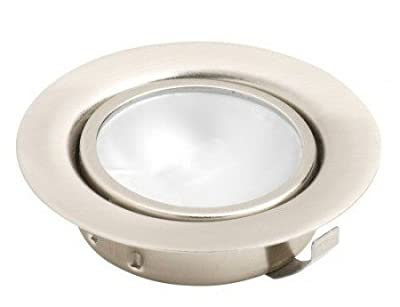 Leyton Lighting 12v 20w halogen recessed downlight stainless steel warm white (Driver Required)