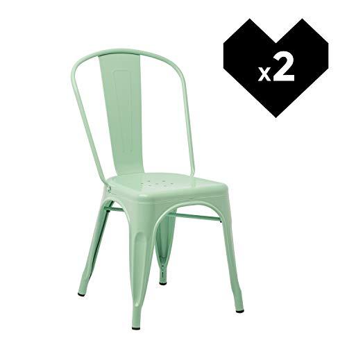 SKLUM Pack 2 Sillas LIX Verde Menta - (Elige Color)