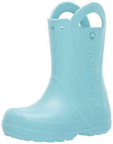 Crocs Unisex-Kinder Handle It Rain Boot Gummistiefel, Blau (Ice Blue 4o9), 27/28 EU