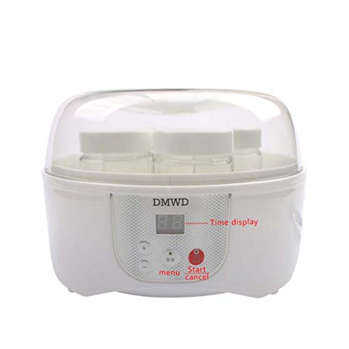 Macchina Automatica Multifunzione per Lo Yogurt Elettrico, Macchina per Il Riso natto, fermentatore Automatico di Yogurt con 4 Bicchieri Leben
