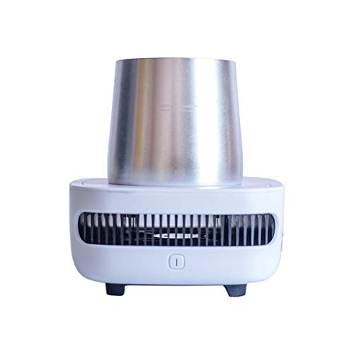 Hengzi Cupcooler Getränke Getränkekühler Extrem schnelle Kühlung Tragbarer USB-Kühlschrank (Weiß)