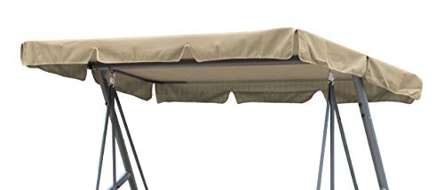 GRASEKAMP Qualität seit 1972 Ersatzdach Universal Hollywoodschaukel Beige Ersatz-Bezug Sonnendach Dachplane
