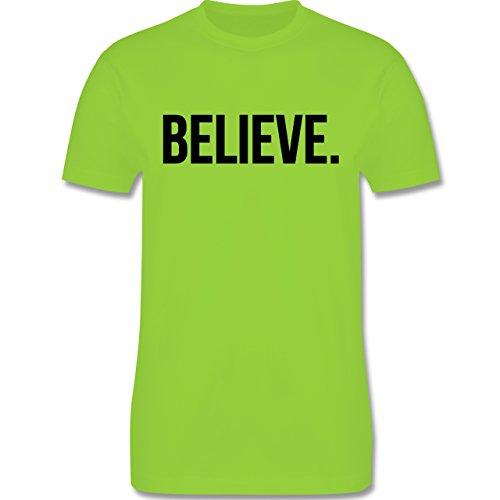 Statement Glaube Religion - Believe Glauben - Herren T-Shirt Hellgrün