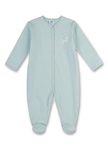 Sanetta Baby-Mädchen Schlafstrampler 221347, Blau (Capri 5227), 80