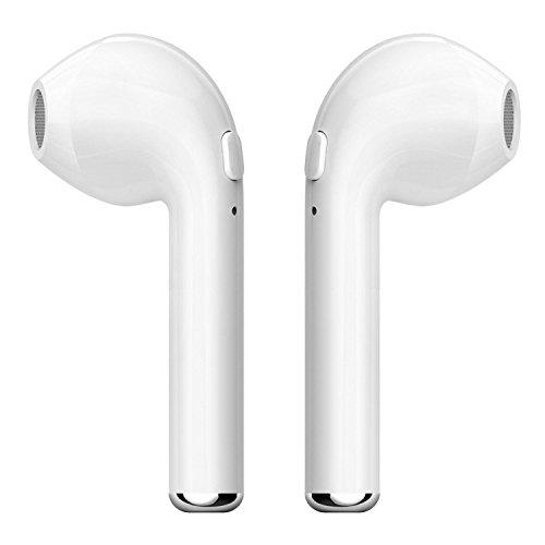Inalámbrico 4.1 Auriculares Bluetooth YILON, mini auriculares inalámbricos gemelos auriculares intra-auriculares auriculares estéreo para Apple iPhone 7 7 plus 6s 6s plus, iPad, Samsung smartphone(2 piezas) (Auriculares gemelos blanco)