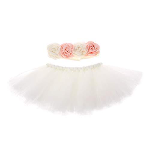 ng Accessoire Outfits Baby Prinzessin Kostüm Tütü Rock Pettiskirt Mädchen Blumen Stirnband (M) ()