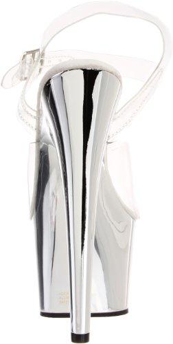 Pleaser Ado, Des sandales femme Transparent (Clear)