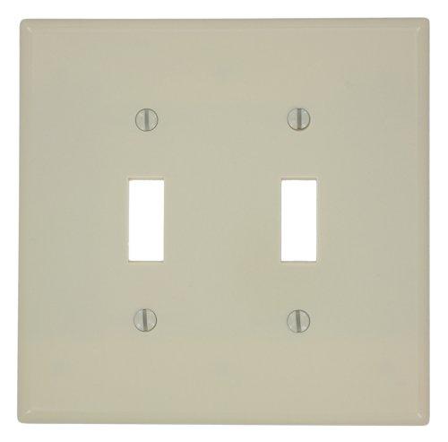 Leviton 4-way Toggle (Leviton 80509I Double Mid-Way Switch Wall Plate-IV 2-TOGGLE WALL PLATE)