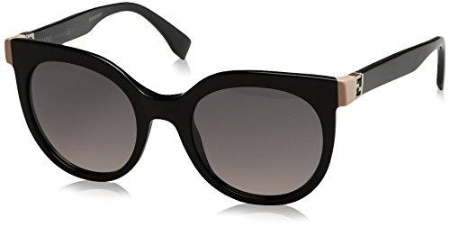 Fendi 2669 occhiali da sole, shiny black with grey sf lens, 52 donna