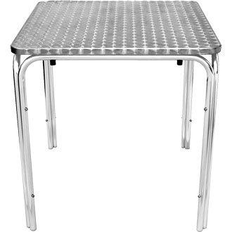 Giardino/Patio tavolo quadrato impilabile in acciaio inox con bordo curvo - design elegante e resistente mobili per il giardino