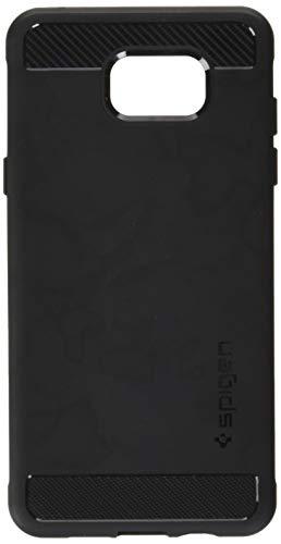 16 Hülle, Spigen® [Rugged Armor] Karbon Look [Schwarz] Elastisch Stylisch Soft Flex TPU Silikon Handyhülle Schutz vor Stürzen und Stößen Schutzhülle für Samsung Galaxy A5 2016 Case Cover Black (SGP11834) ()