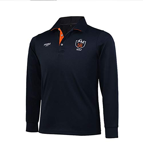 Golf Ball Kostüm - YUIT-G Herren Langarm T-Shirt, Reverskragen Golf Kostüm Herren Ball Polo Kragen Für Golf/Andere Sportarten,Blau,M