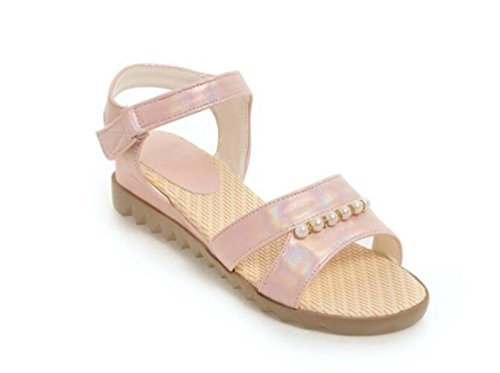 Girls Bohemia Sandals Ceintures Monk Open Toe Casual Shoes EU Taille Personnalisée 34-39 Pink