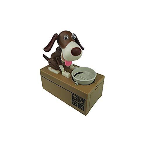 hEziJpTnA Hund Piggy Bank Husky Dog-Bank-Spielzeug-Münzen-Bank Robotic Dog Bank Doggy Münze Bank Canine Geld Box Black & Brown
