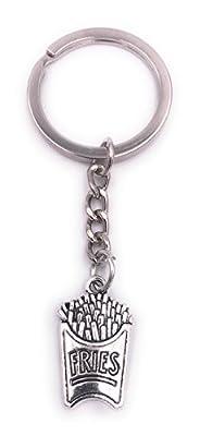 H-Customs Frites porte-clés pendentif en métal argenté