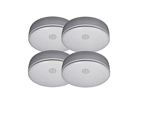 4er SET Rauchmelder mit 10 Jahres Batterie – Stummschaltfunktion - VdS Zertifiziert & Q-Siegel...