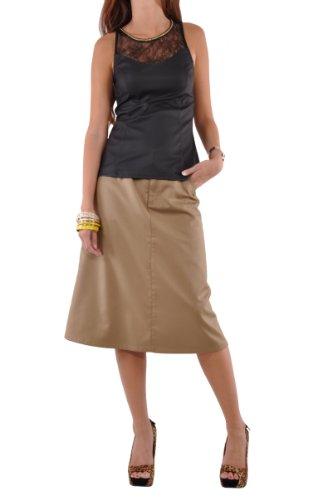 Style J Damen Rock Schickes Kaki Beige
