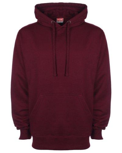 FDM Unisex Kapuzenpullover / Kapuzensweater (M) (Weinrot)
