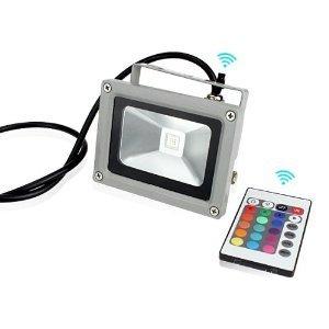 10w LED RGB 16 Farben Fluter Außen Strahler Scheinwerfer IP65 mit Memory Funktion & Fernbedienung von Himanje - Lampenhans.de