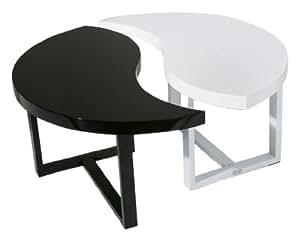 links lenny table basse noir blanc cuisine maison. Black Bedroom Furniture Sets. Home Design Ideas