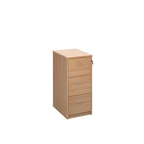 BiMi Deluxe Ready Built 3 Drawer Filing Cabinet in Oak