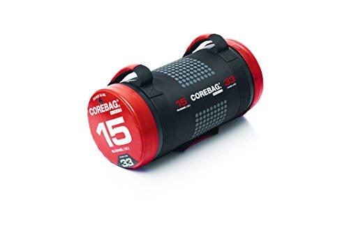 ESCAPE corebag Poids Sac d'entraînement powerbag Crossfit Poids Fitn Businessbag, Mixte, ECB150V3, Noir/Rouge, 15 kg